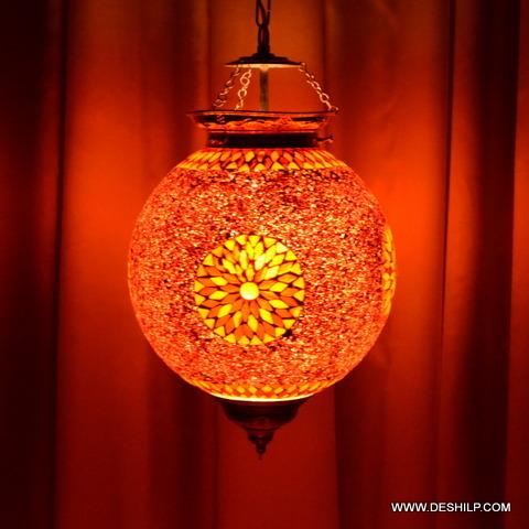 Glass Hanging Ceiling Pendant Light Night Lamp