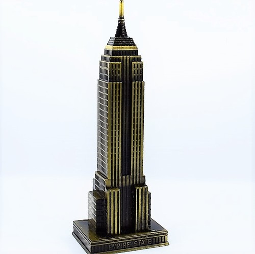 Golden Empire State Building Miniature Model