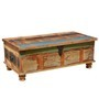 Grinnell Rustic Reclaimed Wood Coffee Table Storage Trunk