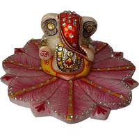 Marble Revolving Ganesh Chowki