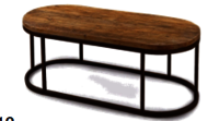 Industrial Coffee Table With Uneven Finished Top