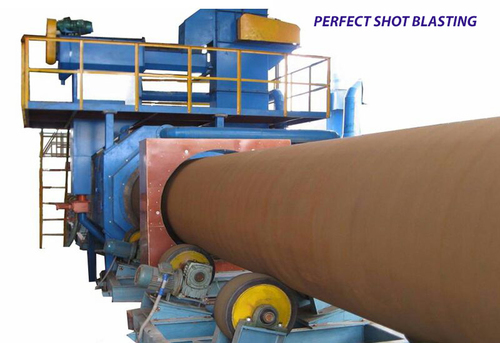 Airless Pipe Shot Blasting Machine