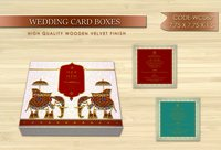 Designer Wooden Wedding Invitation Card Box
