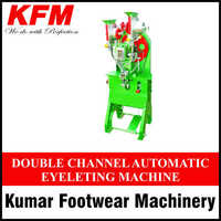 Double Channel Automatic Eyeleting Machine