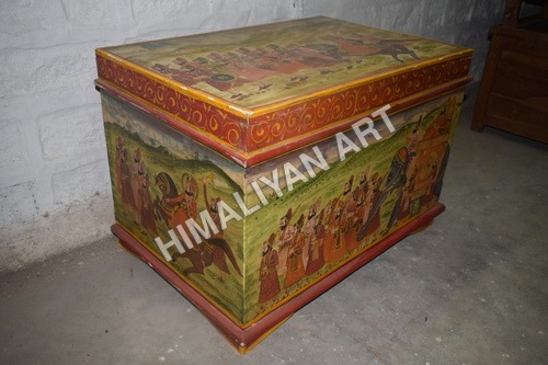 WOODEN PAINTED BOX