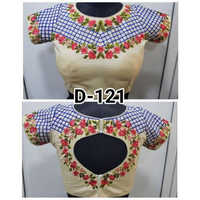 Ladies Embroidered Party Wear Blouse