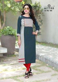 Mittoo Payal Rayon Designer Kurtis
