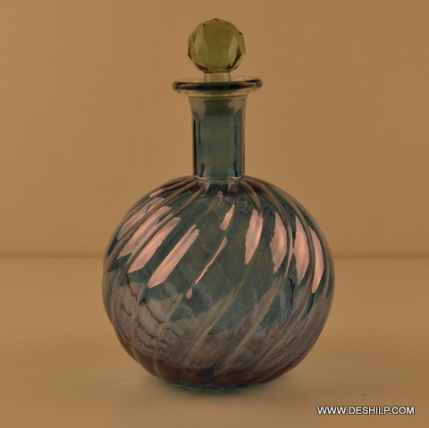 GLASS PERFUME BOTTLE, REED DIFFUSER,RIBBED DECORATIVE PERFUME BOTTLE