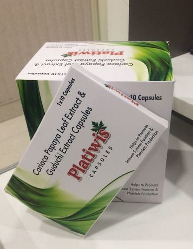 Carica Papaya Leaf And Guduchi Extract Capsule