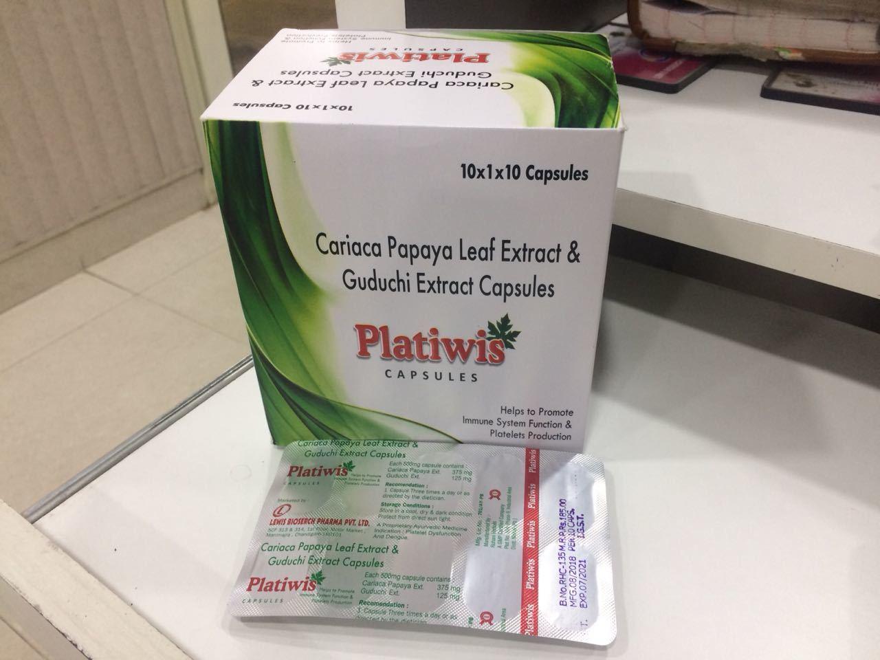 Carica Papaya Leaf And Guduchi Extract Capsule