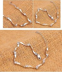 Bracelet for Women (Silver)(YCFJBR-335SD-SL)