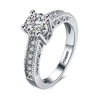 A5 Grade Crystals Micro Pave Setting Crystal Designer Silver Ring