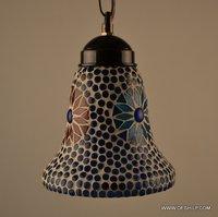 BLUE MOSAIC GLASS WALL HANGING