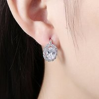 Crystals from Swarovski Clip-On Earrings