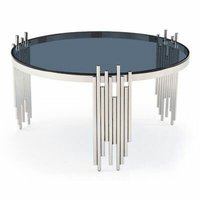 Decorative Stainless Steel Glass Table