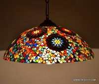 GLASS HANGING MOSAIC DECORATED