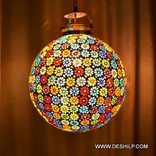 BIGGER BALL MOSAIC DESIGN GLASS WALL HANGING LAMP