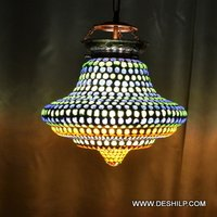 CHAKRI SHAPE MOSAIC DESIGN GLASS WALL HANGING LAMP