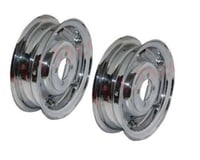 "Vespa Front Rear Wheel Rim Set Chrome Plated 3.50"" X 8"" VBB VLB VNA Models"