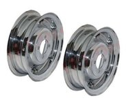 Vespa Front Rear Wheel Rim Set Chrome Plated 3.50
