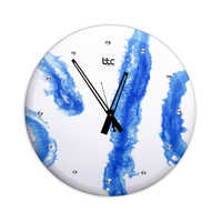 Blue Resin High Glossy Wall Clock