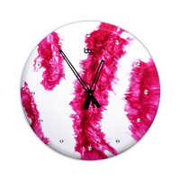Magenta Resin High Glossy Wall Clock