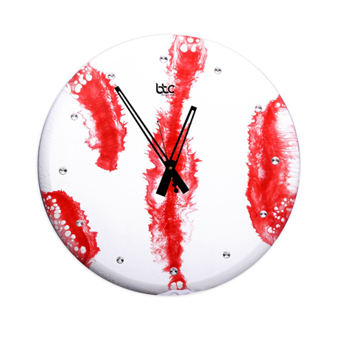 Red Resin High Glossy Wall Clock
