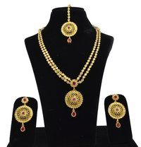 Latest Bollywood Classic Style Antique Reverse American Diamond AD Necklace Set / Neck Piece / Line Set
