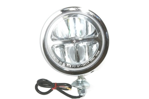 Clear Lens LED Fog Light Steel Chrome Housing 4.5'' Car Motorcycle Universal Fit