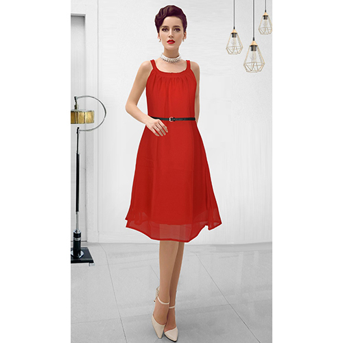 Ladies Short Red Wedding Dress