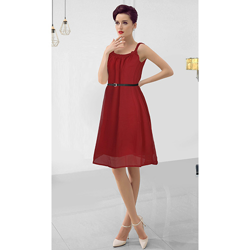 Ladies Red Short Wedding Dress
