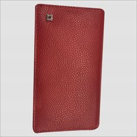 Red Leather Waiters Wallet
