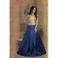 Ladies Blue Designer Lehengas