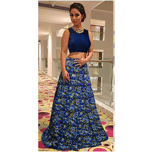 Ladies Blue Lehenga Choli