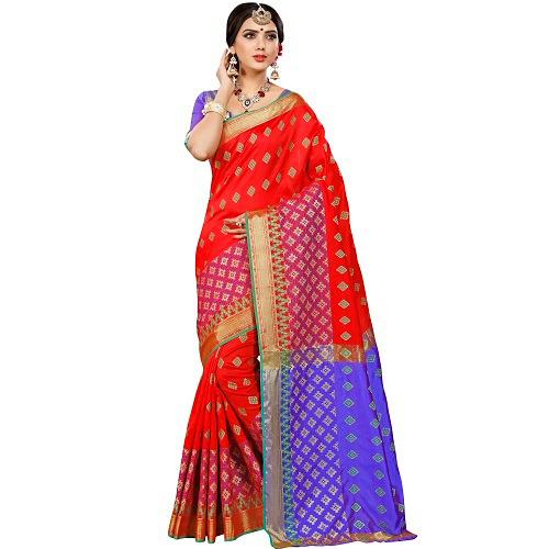 Ladies Banarasi Printed Saree