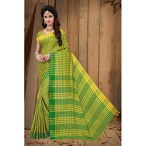 Ladies Green Cotton Saree