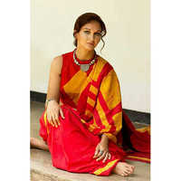 Ladies Red Cotton Saree