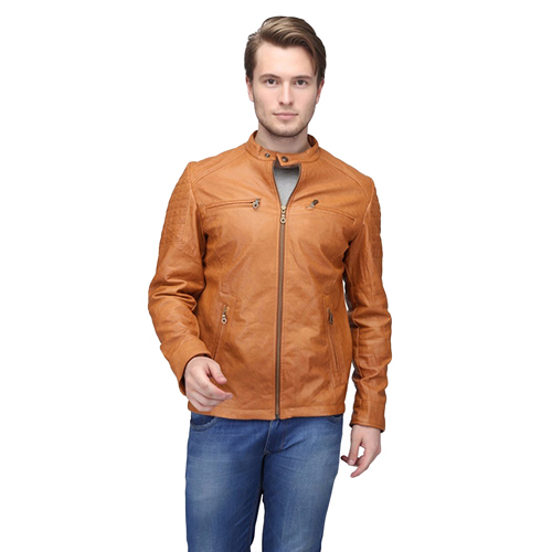 Mens Brown Polyster Jacket