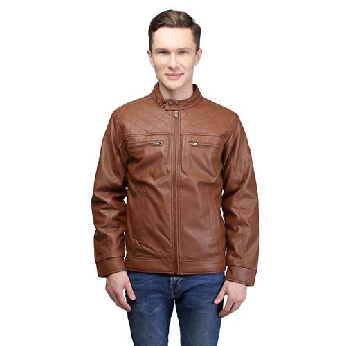 Mens Designer Brown Polyster Jacket