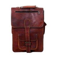 2 Zipper Pockets Leather Messenger Bags