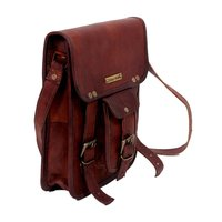 Brass Buckles Leather Messenger Bags