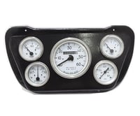 Willys jeep Panel Dash Gauge Instrument Cluster with Black Mounting Plate