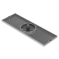 18X 8 Center Spray Rinser Drip Tray Brushed Stainless