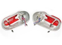 1955 Fiat 1100 103 TV 1 Series Taillight Assembly Without Bulb Remanufactured