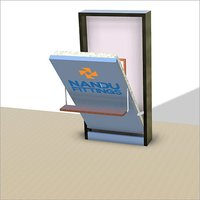 Single wall bed mechanism with shelf type leg