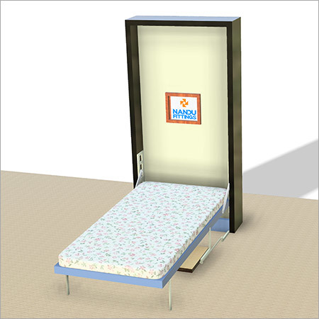 Single wall bed mechanism with Study Table