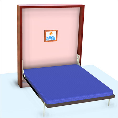 Double wall bed mechanism with Side Flat bar leg