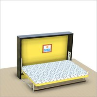 Single Horizontal wall bed mechanism with study table