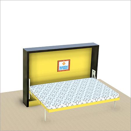 Single Horizontal wall bed mechanism with Flat Bar Leg