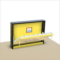 Single Horizontal wall bed mechanism with Flat Bar Leg